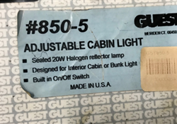 Guest Adjustable Cabin Light